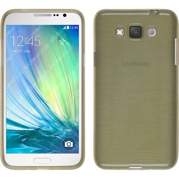 Silicone Case for Samsung Galaxy Grand 3 brushed gold
