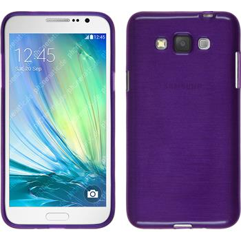 Silikon Hülle Galaxy Grand 3 brushed lila