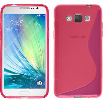 Silicone Case for Samsung Galaxy Grand 3 S-Style hot pink