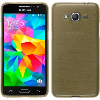 Silikon Hülle Galaxy Grand Prime brushed gold