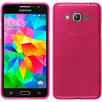 Silicone Case for Samsung Galaxy Grand Prime brushed hot pink