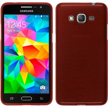 Silicone Case for Samsung Galaxy Grand Prime brushed red