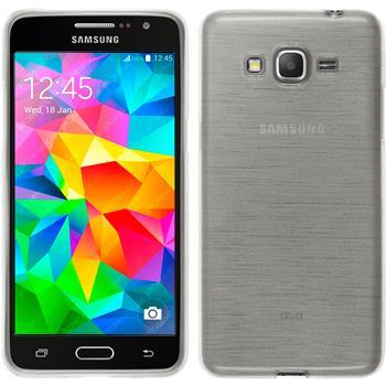 Silikonhülle für Samsung Galaxy Grand Prime brushed weiß