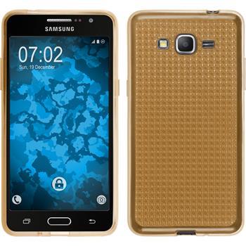 Silikonhülle für Samsung Galaxy Grand Prime Iced gold