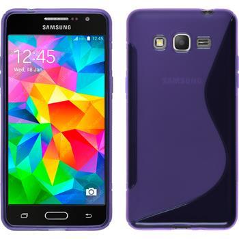 Silikon Hülle Galaxy Grand Prime S-Style lila
