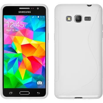 Silikonhülle für Samsung Galaxy Grand Prime S-Style weiß