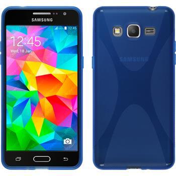 Silikonhülle für Samsung Galaxy Grand Prime X-Style blau