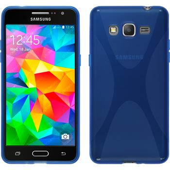 Silikon Hülle Galaxy Grand Prime X-Style blau