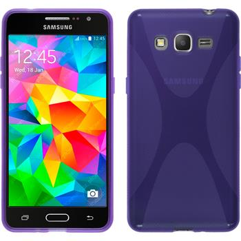 Silikon Hülle Galaxy Grand Prime X-Style lila