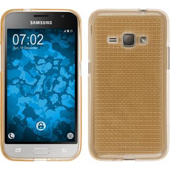 Silikon Hülle Galaxy J1 (2016) J120 Iced gold Case