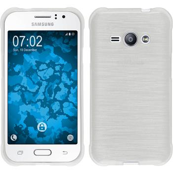 Silikon Hülle Galaxy J1 ACE brushed weiß