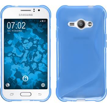 Silikonhülle für Samsung Galaxy J1 ACE S-Style blau