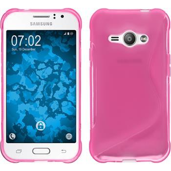 Silikon Hülle Galaxy J1 ACE S-Style pink