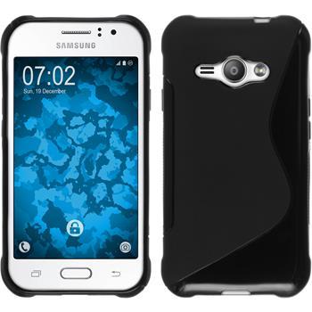Silikon Hülle Galaxy J1 ACE S-Style schwarz