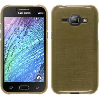 Silikon Hülle Galaxy J1 (J100 2015) brushed gold