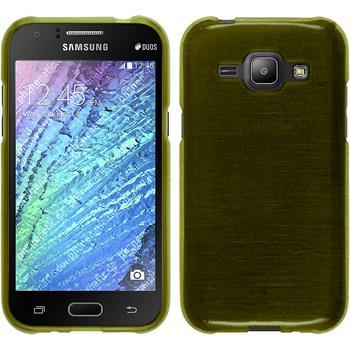 Silikon Hülle Galaxy J1 (J100 2015) brushed pastellgrün