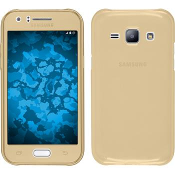 Silikon Hülle Galaxy J1 (J100 2015) 360° Fullbody gold
