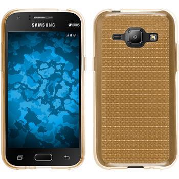 Silikon Hülle Galaxy J1 (J100 2015) Iced gold