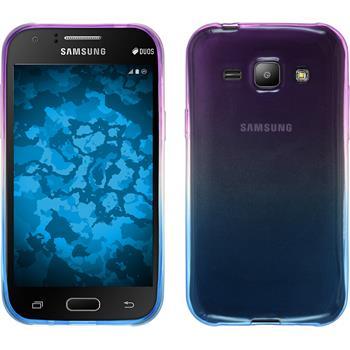 Silikon Hülle Galaxy J1 (J100 2015) Ombrè Design:04