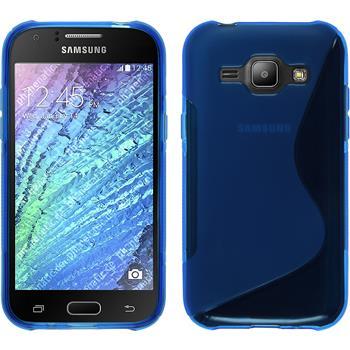 Silikon Hülle Galaxy J1 (J100 2015) S-Style blau