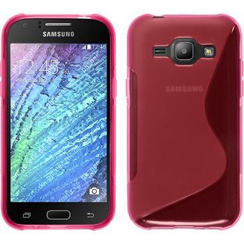Silikon Hülle Galaxy J1 (J100 2015) S-Style pink
