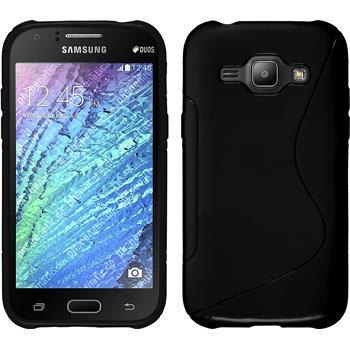 Silikon Hülle Galaxy J1 (J100 2015) S-Style schwarz