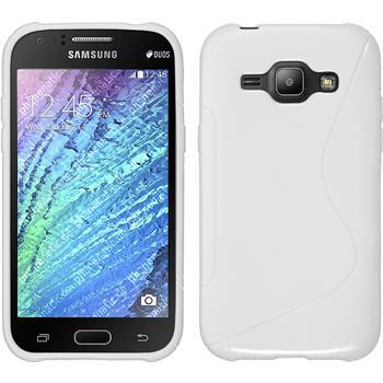 Silikon Hülle Galaxy J1 (J100 2015) S-Style weiß