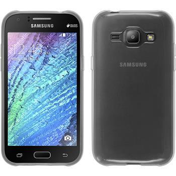 Silikon Hülle Galaxy J1 (J100 2015) transparent weiß