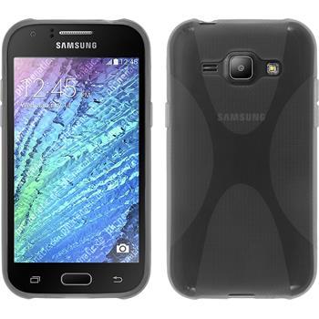 Silikon Hülle Galaxy J1 (J100 2015) X-Style grau