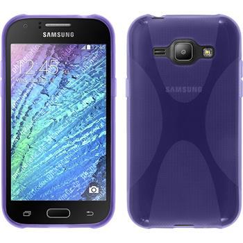 Silikonhülle für Samsung Galaxy J1 (J100) X-Style lila