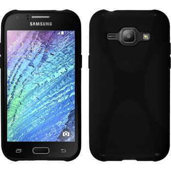 Silikon Hülle Galaxy J1 (J100 2015) X-Style schwarz