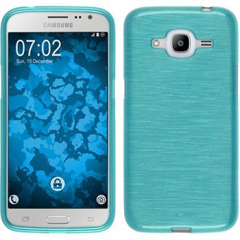 Silikon Hülle Galaxy J2 (2016) (J210) brushed blau Case
