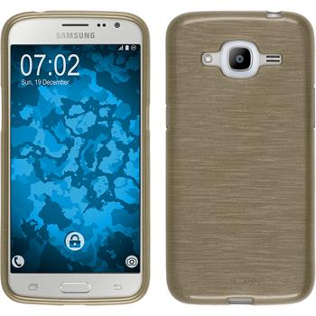 Silikon Hülle Galaxy J2 (2016) (J210) brushed gold
