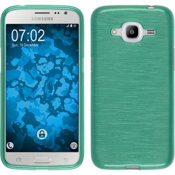 Silikonhülle für Samsung Galaxy J2 (2016) brushed grün