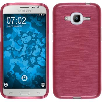 Silikon Hülle Galaxy J2 (2016) (J210) brushed rosa