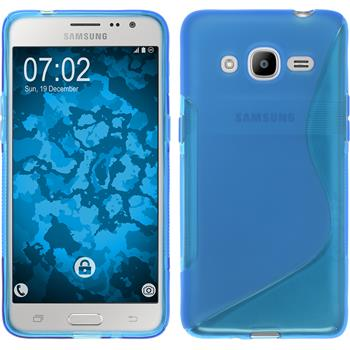 Silikon Hülle Galaxy J2 (2016) (J210) S-Style blau