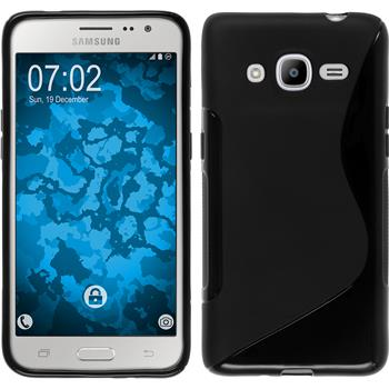 Silikon Hülle Galaxy J2 (2016) (J210) S-Style schwarz