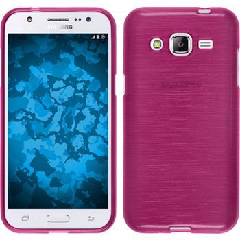 Silikon Hülle Galaxy J2 brushed pink Case