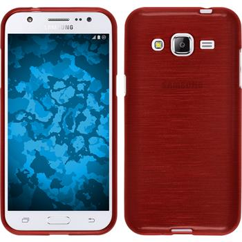 Silikon Hülle Galaxy J2 brushed rot
