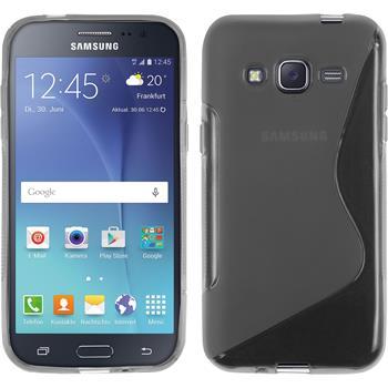 Silikon Hülle Galaxy J2 S-Style grau