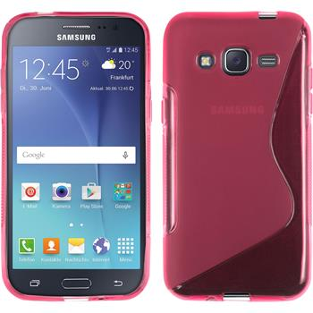 Silikon Hülle Galaxy J2 S-Style pink