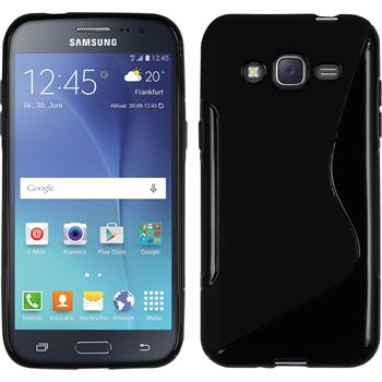Silikon Hülle Galaxy J2 S-Style schwarz Case