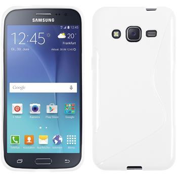 Silikon Hülle Galaxy J2 S-Style weiß Case