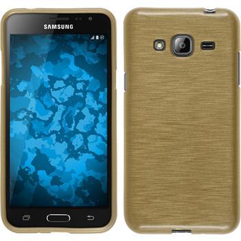Silikon Hülle Galaxy J3 brushed gold