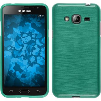 Silikonhülle für Samsung Galaxy J3 brushed grün
