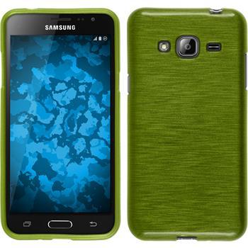 Silikonhülle für Samsung Galaxy J3 brushed pastellgrün