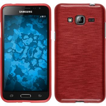Silikon Hülle Galaxy J3 brushed rot