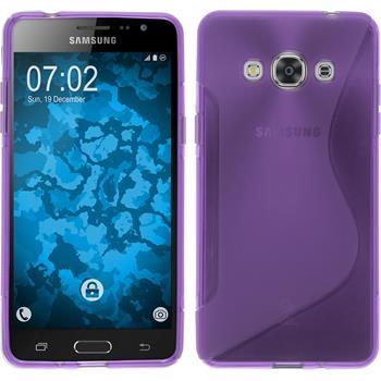 Silikonhülle für Samsung Galaxy J3 Pro S-Style lila