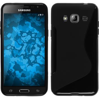Silikon Hülle Galaxy J3 S-Style schwarz