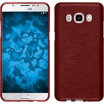 Silikonhülle für Samsung Galaxy J5 (2016) J510 brushed rot